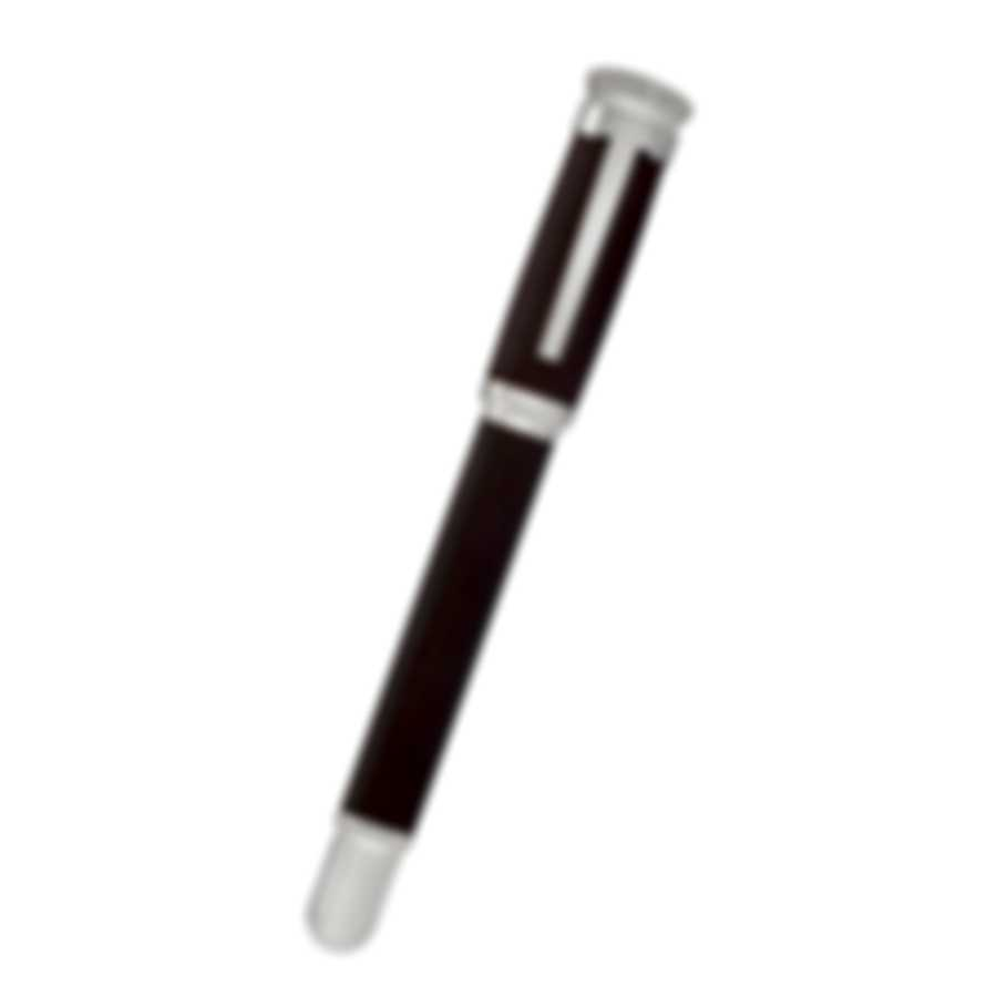 Dunhill Sentryman Burgundy & Silver Resin And Stainless Steel Rollerball Pen NWB3763