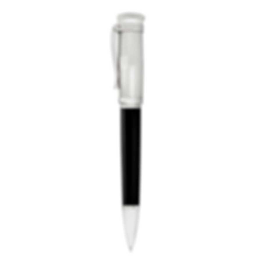 Dunhill Sentryman Black & Silver Resin And Stainless Steel Ballpoint Pen NWC2003