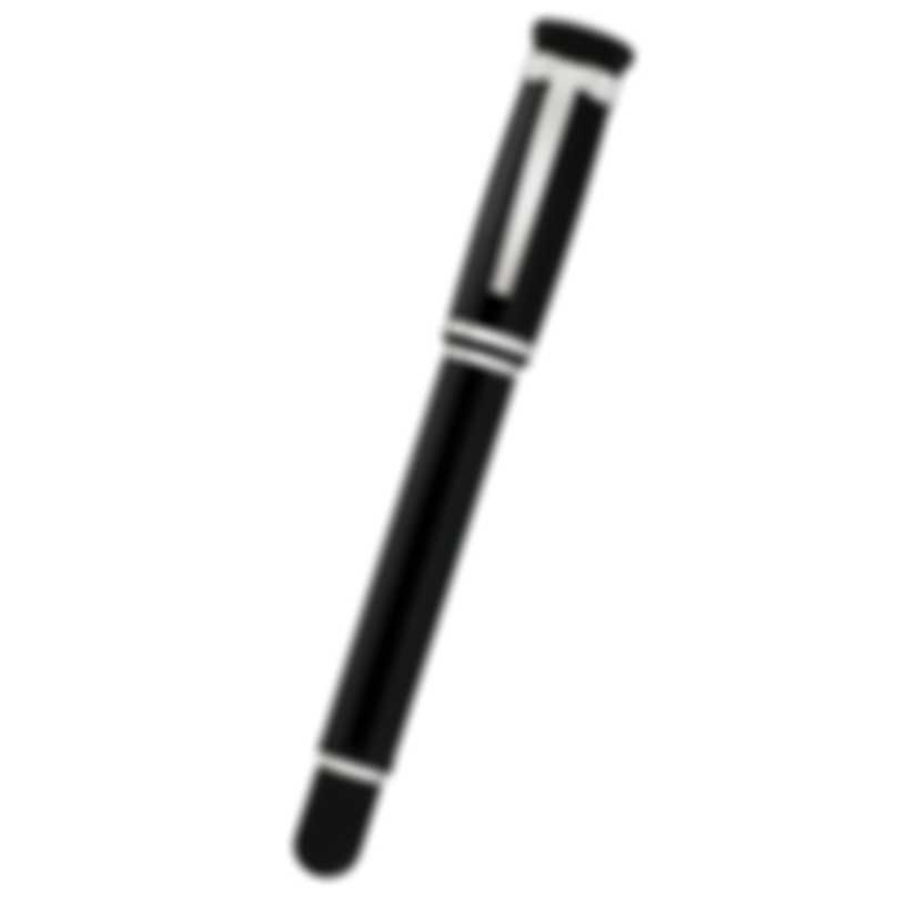 Dunhill Sentryman Black & SIlver Resin And Palladium Rollerball Pen NWD3503