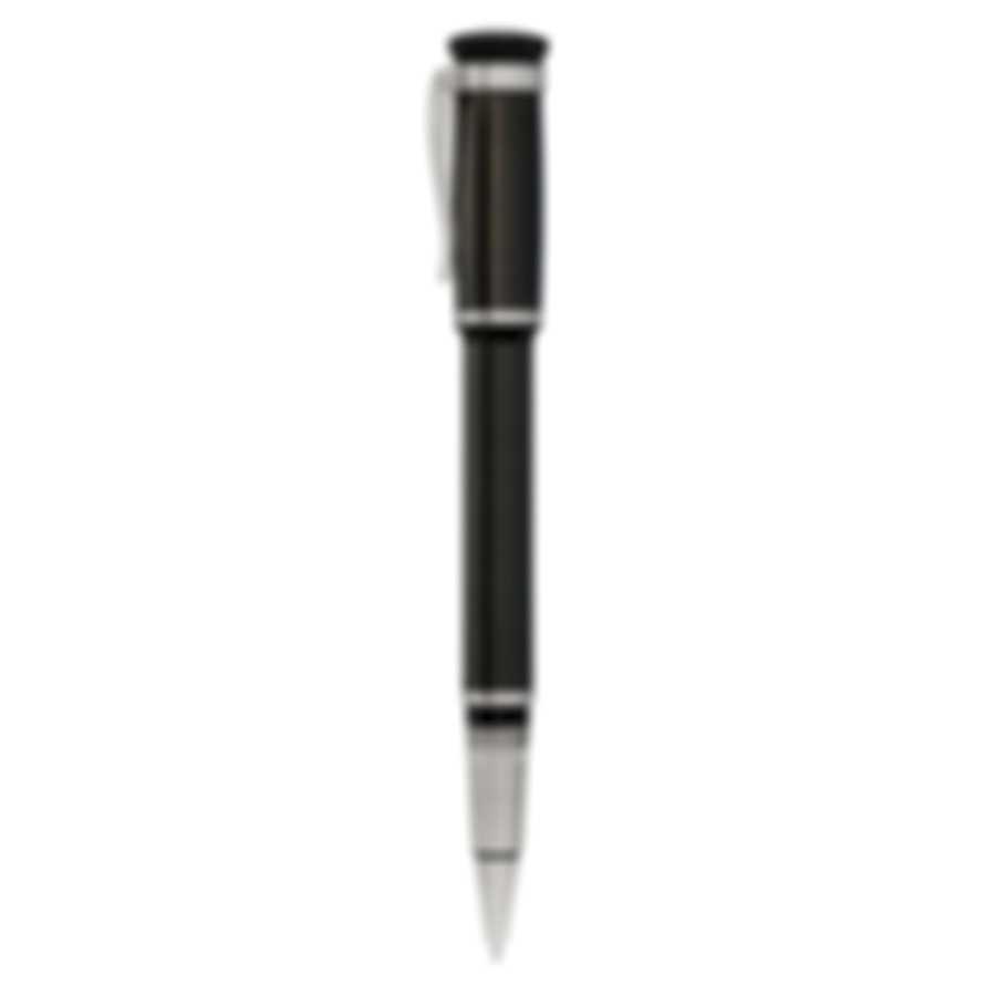 Dunhill Sentryman Black & SIlver Carbon Fiber And Palladium Rollerball Pen NWD3523