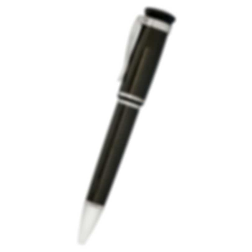 Dunhill Sentryman Black & SIlver Carbon Fiber And Palladium Ballpoint Pen NWH2523