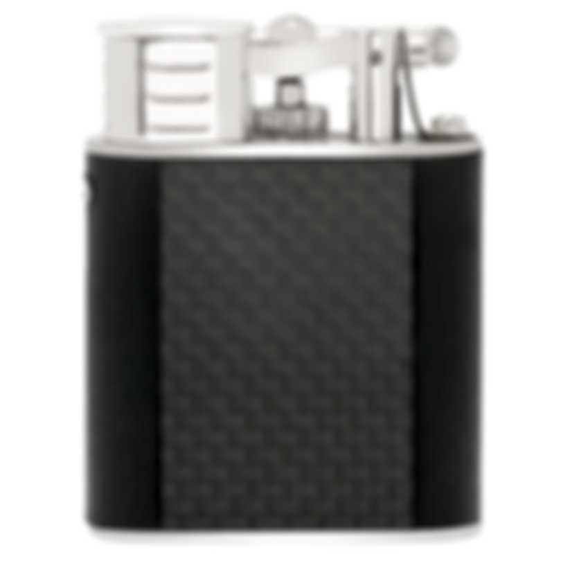 Dunhill The White Spot Unique Black & Silver Brass And Rhodium Lighter QLL2214