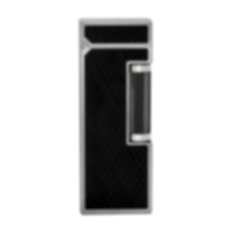 Dunhill The White Spot Rollagas Black & Silver Resin And Ruthenium Lighter RLG3325