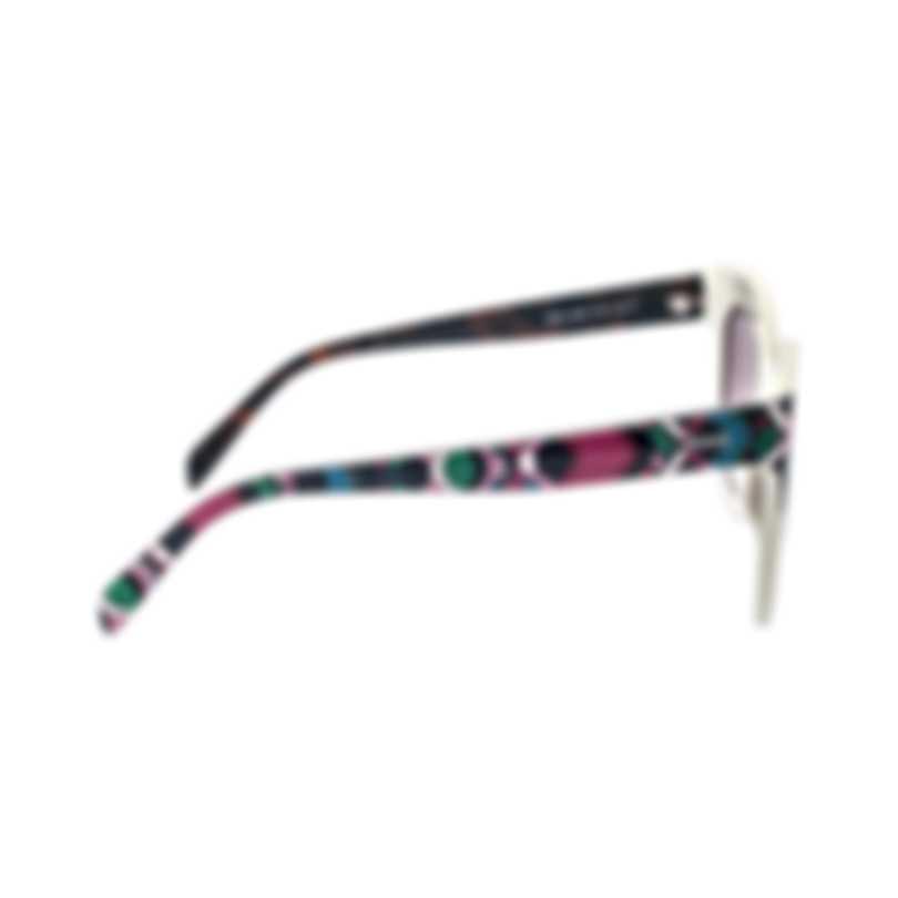 Emilio Pucci Women's White Brown Sunglasses EP009725G