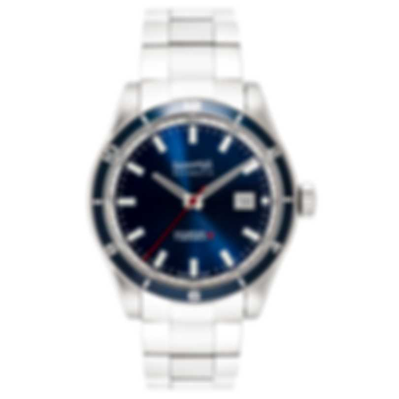 Eberhard Champion V Time Only Blue Dial Automatic Men's Watch 41031.3S