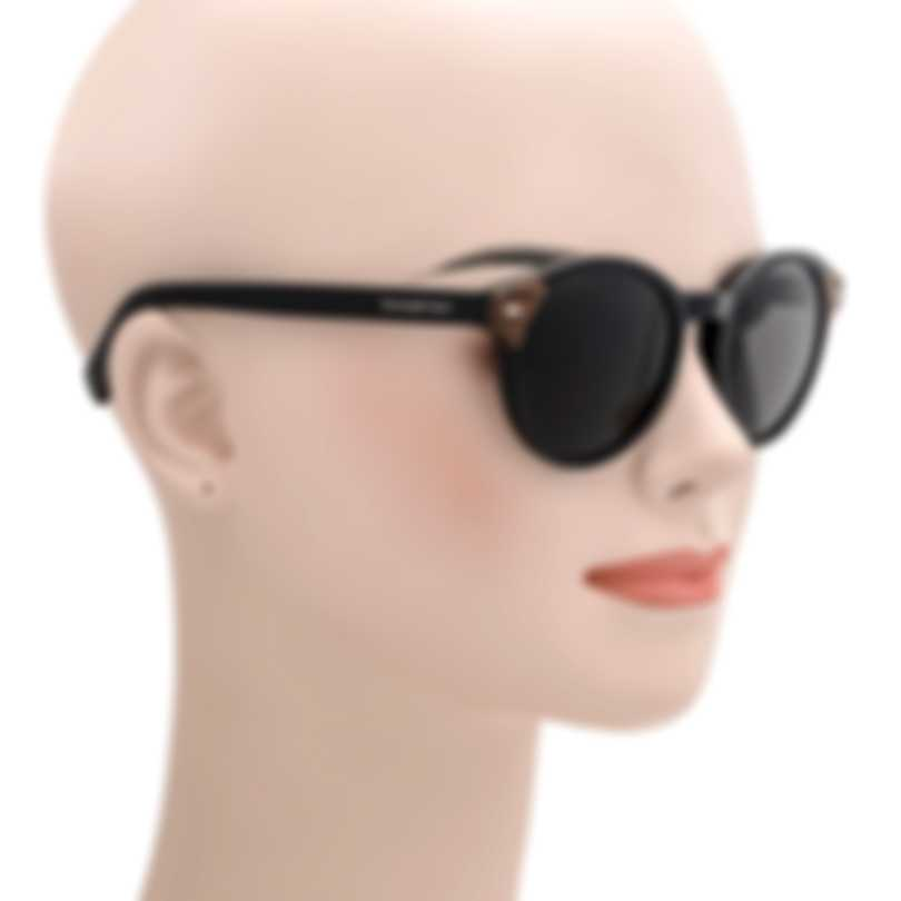 Ermenegildo Zegna Black And Tortoise & Grey Round Sunglasses EZ0081-51145