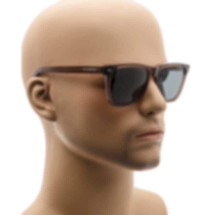 Ermenegildo Zegna Transparent Brown & Blue Square Sunglasses EZ0082-5650V