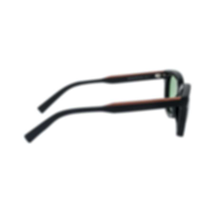 Ermenegildo Zegna Men's Black And Brown Sunglasses EZ011801N