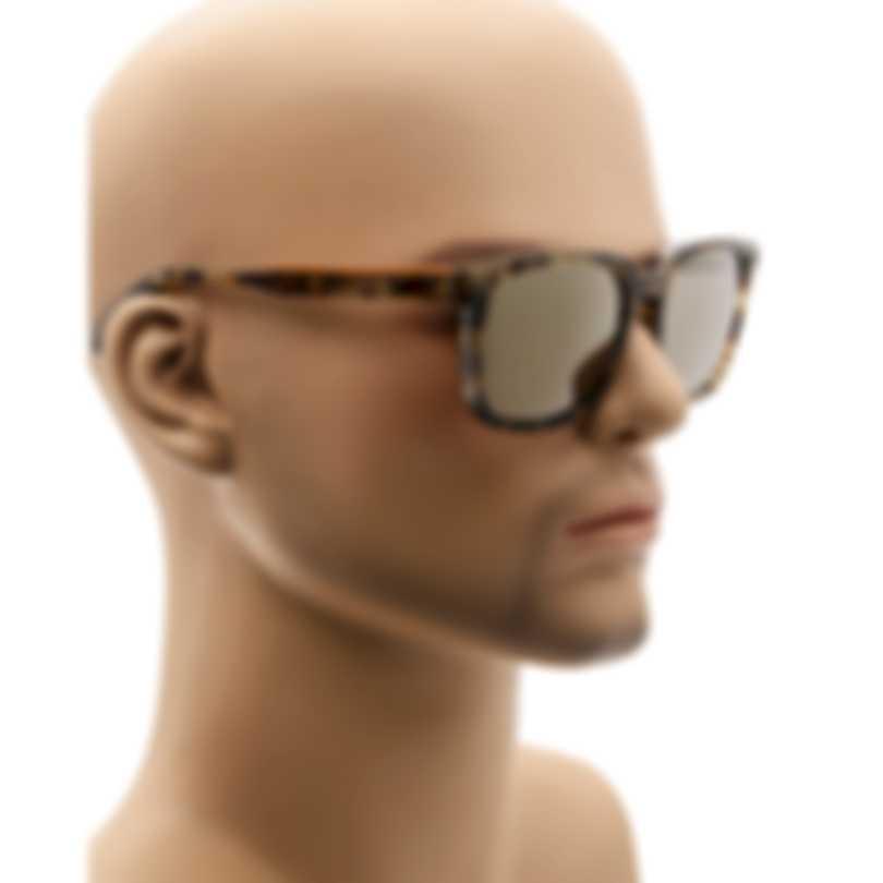 Ermenegildo Zegna Coloured Havana & Smoke Rectangular Sunglasses EZ0119-5555C