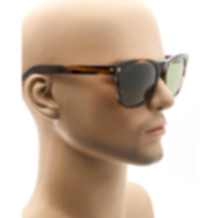 Ermenegildo Zegna Brown Tortoise & Green Sunglasses EZ0126-5750N