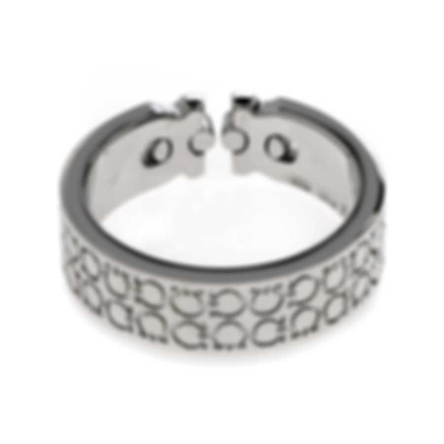 Ferragamo Gancini Sterling Silver Ring Sz 6.75 703401