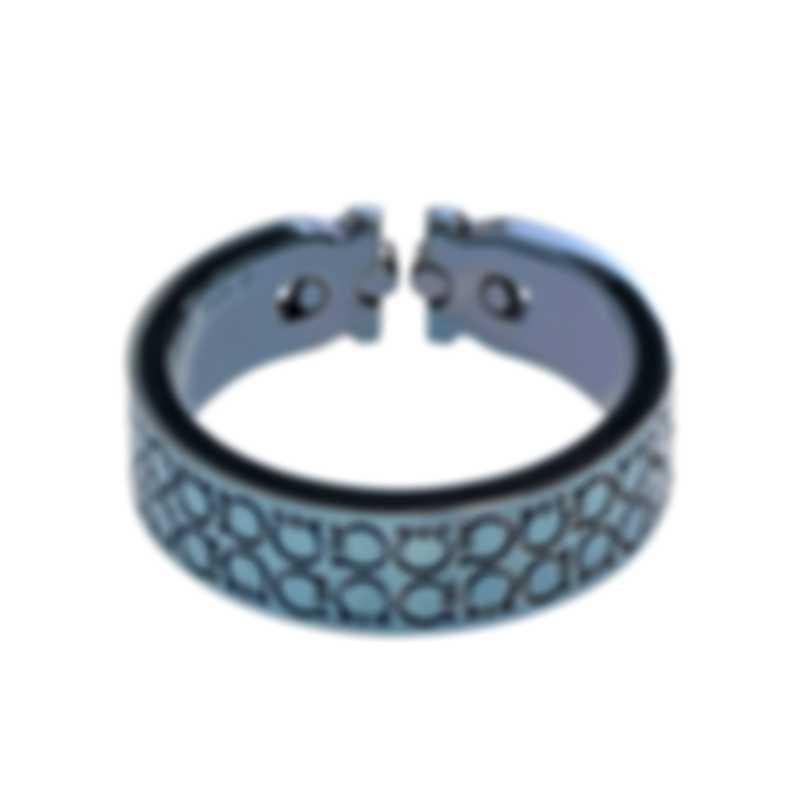 Ferragamo Gancini Rhodium Silver Ring Sz 9.5 703405