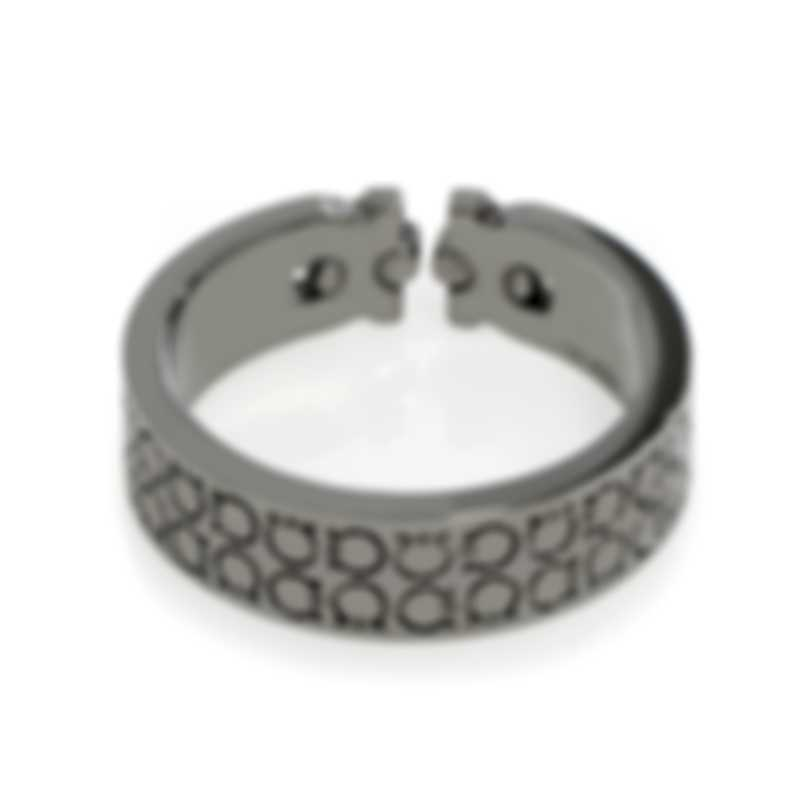 Ferragamo Gancini Rhodium Silver Ring Sz 10.25 703406