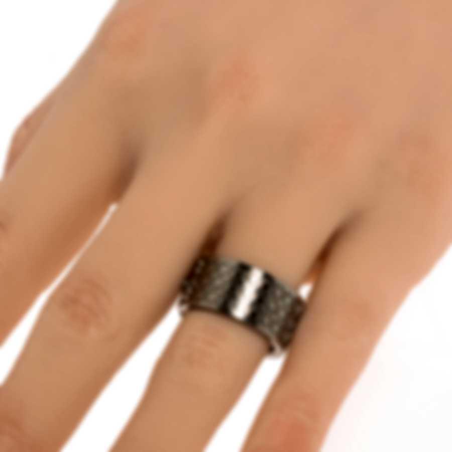 Ferragamo Gancini Rhodium Silver Ring Sz 6.5 703409