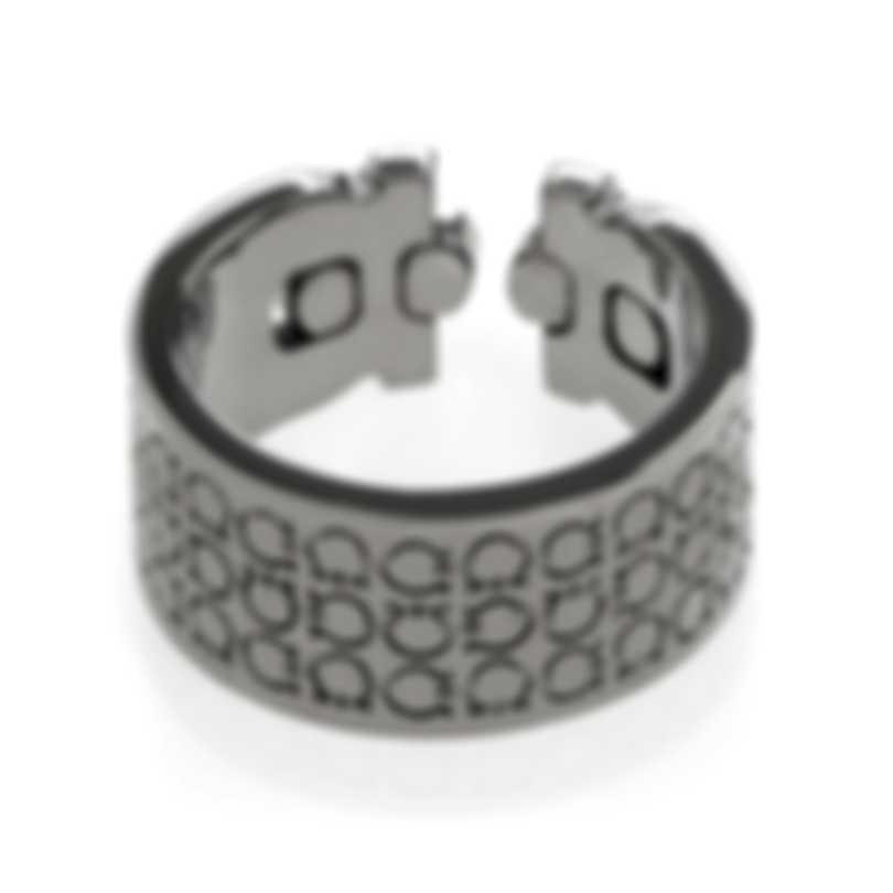 Ferragamo Gancino Rhodium Silver Ring Sz 8 703411