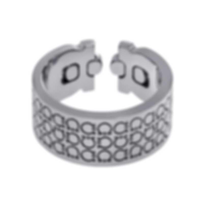Ferragamo Gancini Rhodium Silver Ring Sz 9.5 703413