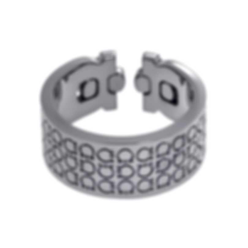 Ferragamo Gancino Rhodium Silver Ring Sz 10.5 703414