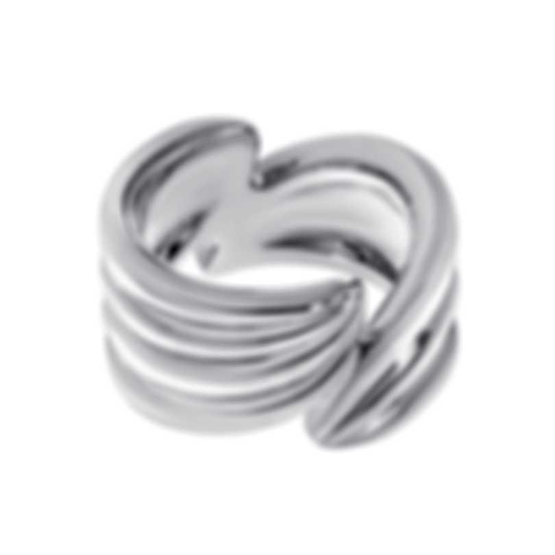 Ferragamo Wedge Sterling Silver Ring Sz 4.5 703428