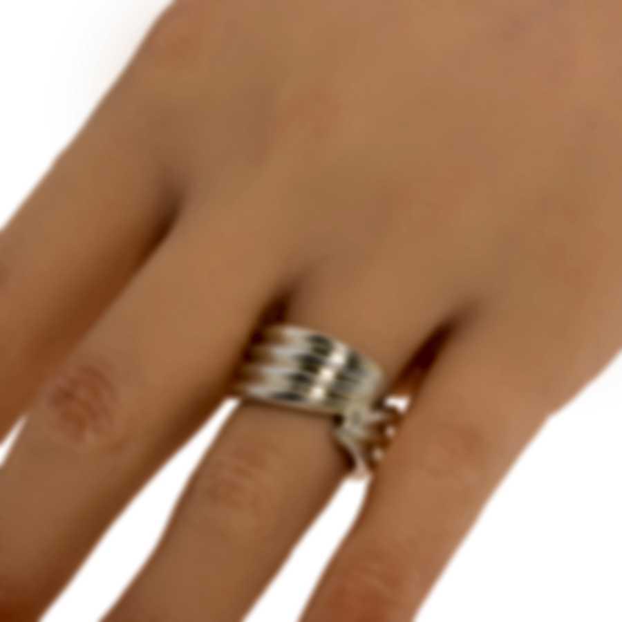 Ferragamo Wedge Sterling Silver Ring Sz 5.5 703430