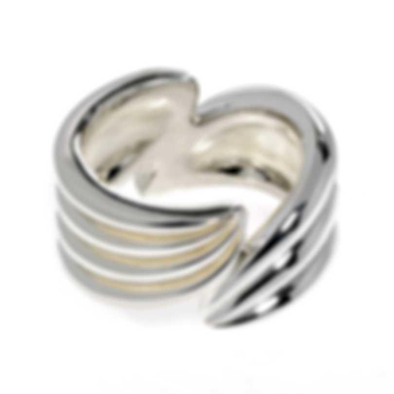 Ferragamo Wedge Sterling Silver Ring Sz 8.25 703433