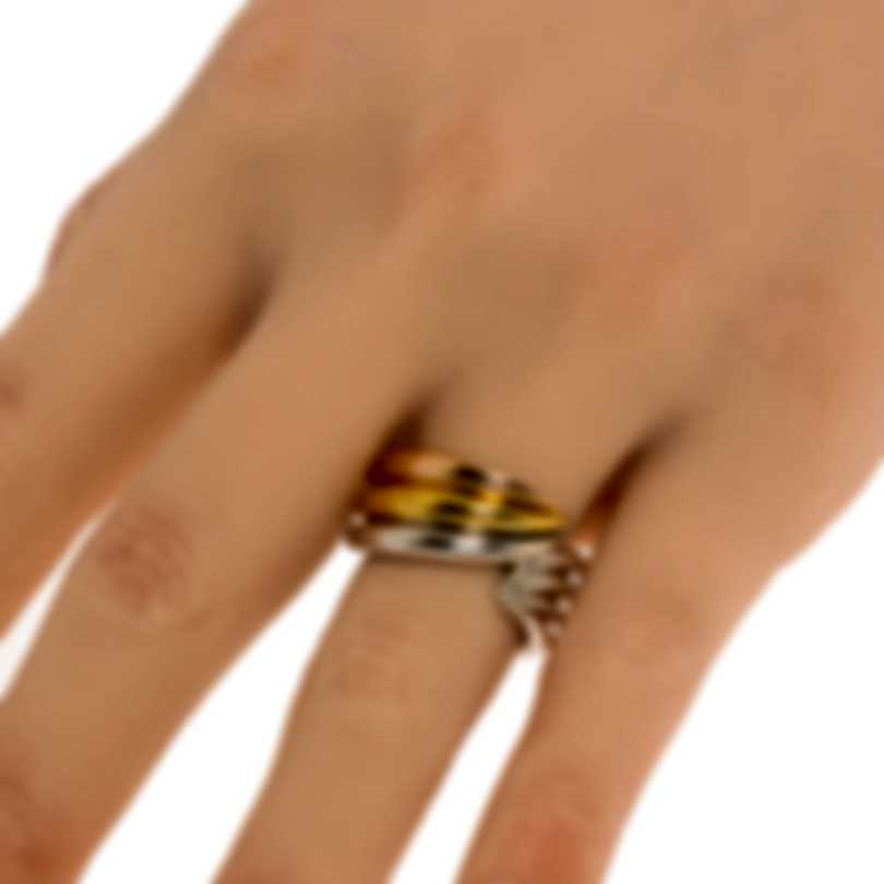 Ferragamo Wedge Sterling Silver And Gold Plated Ring Sz 6 703437