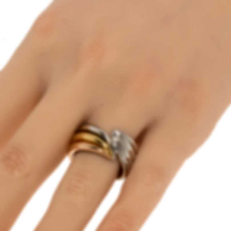 Ferragamo Wedge Sterling Silver And Gold Plated Ring Sz 8.5 703440