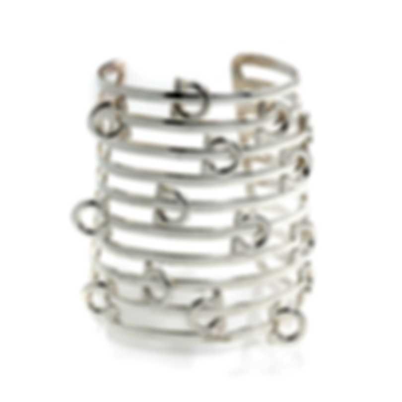 Ferragamo Gancino Sterling Silver Bracelet 703484