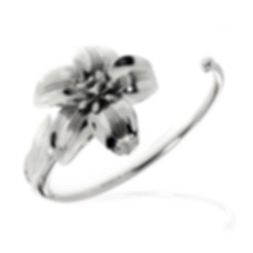 Ferragamo Giglio Sterling Silver Bracelet 703496