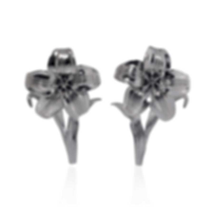 Ferragamo Giglio Sterling Silver Earrings 703498