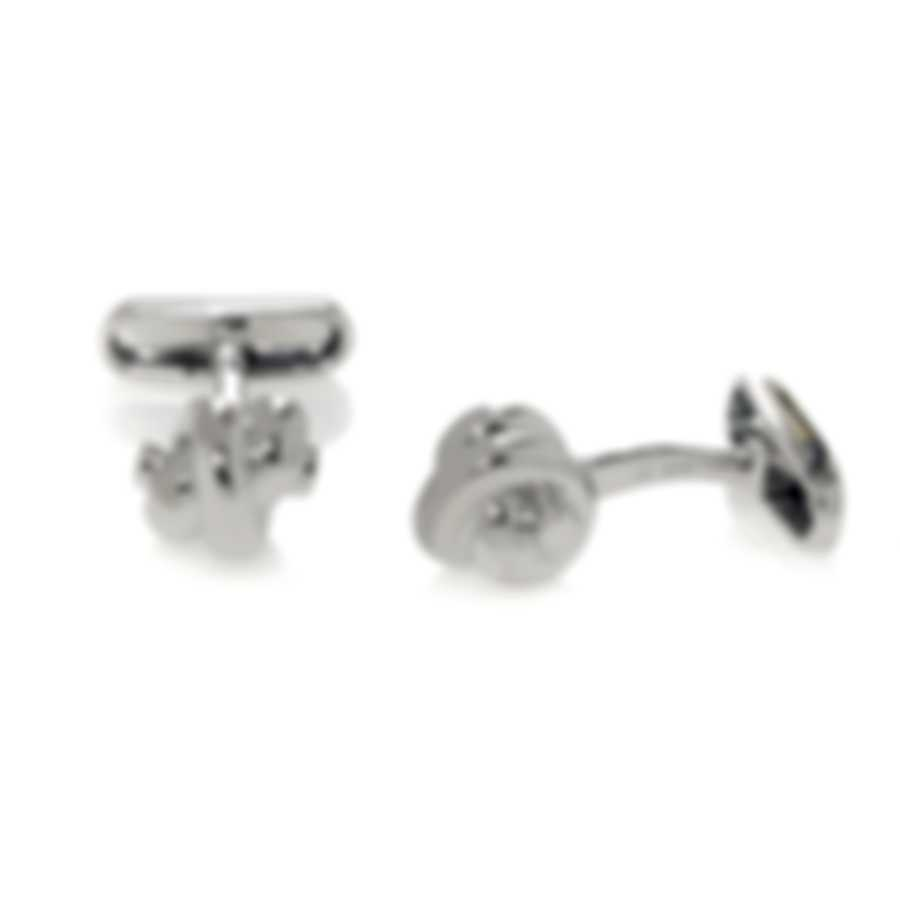 Ferragamo Nodo Sterling Silver Cufflinks 703287