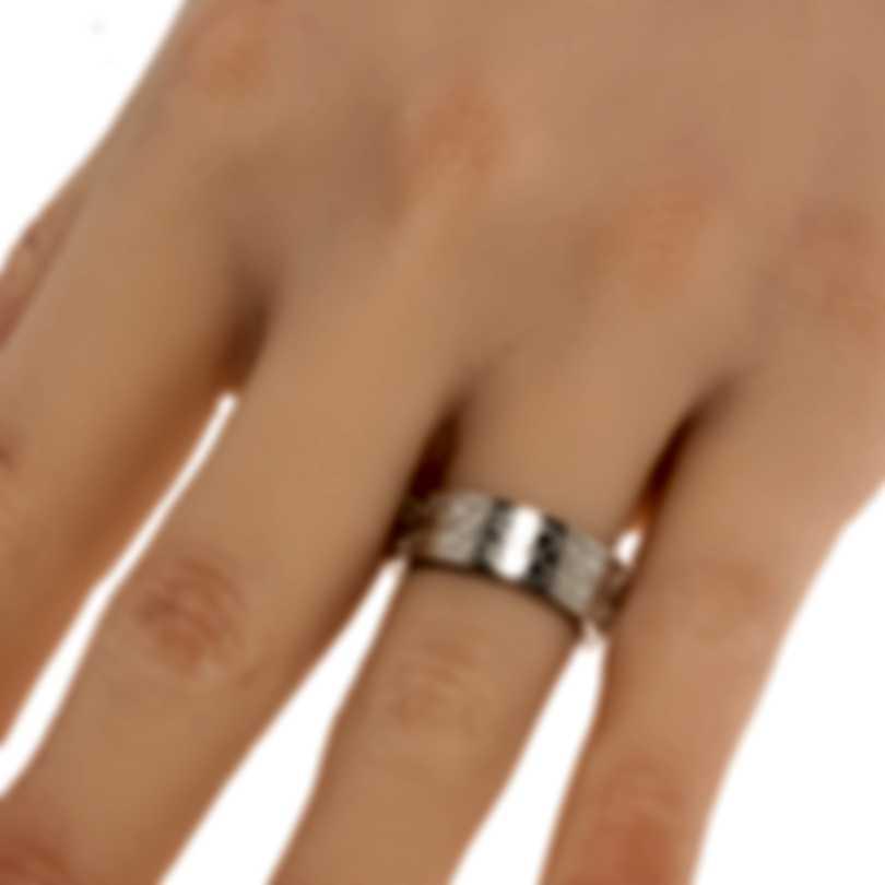Ferragamo Gancini Sterling Silver Ring Sz 6 703378