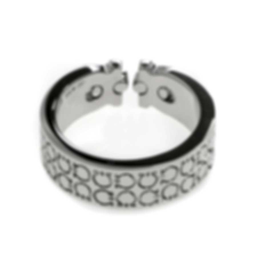 Ferragamo Gancini Sterling Silver Ring Sz 6.75 703379