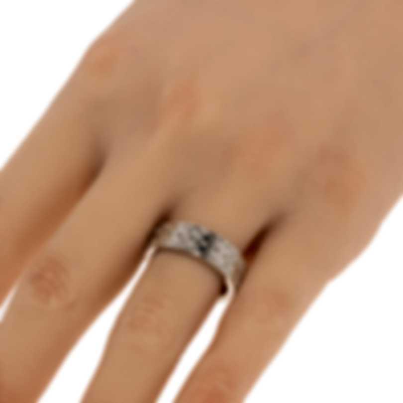 Ferragamo Gancini Sterling Silver Ring Sz 7.75 703380