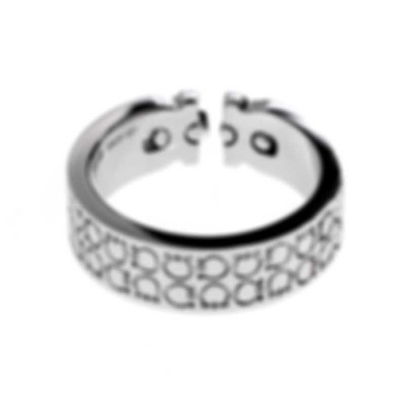 Ferragamo Gancini Sterling Silver Ring Sz 8.25 703381
