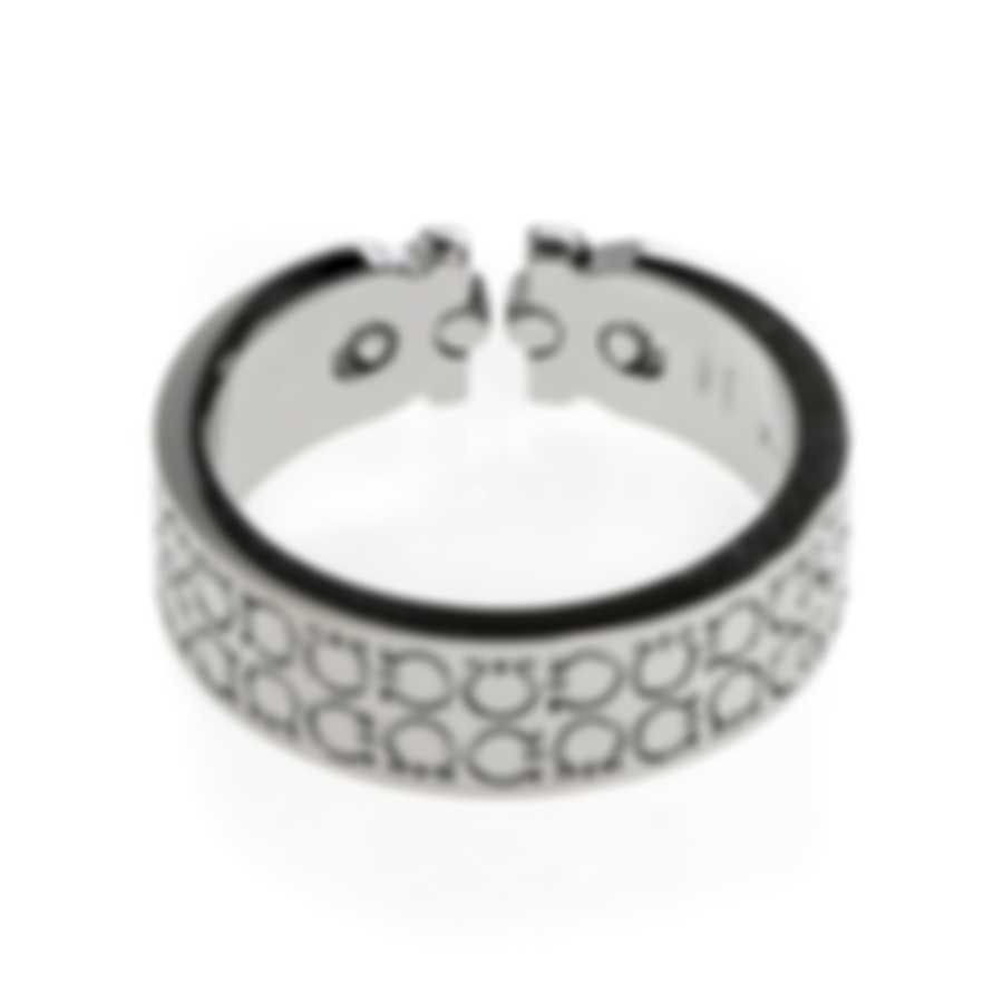 Ferragamo Gancini Sterling Silver Ring Sz 9 703382