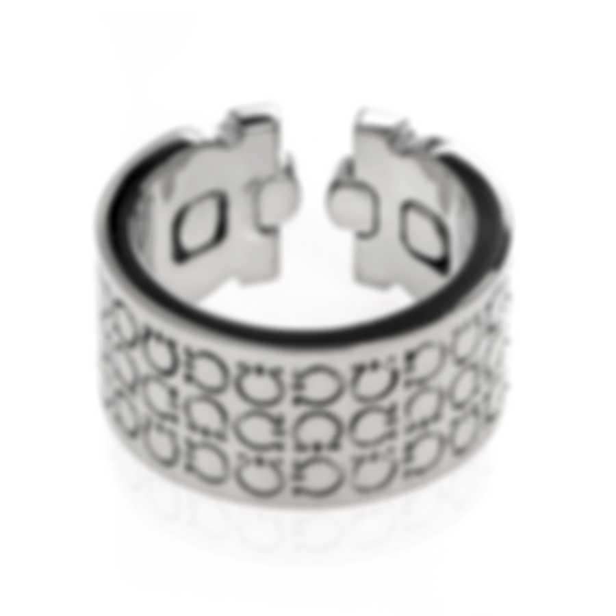 Ferragamo Gancini Sterling Silver Ring Sz 6 703386