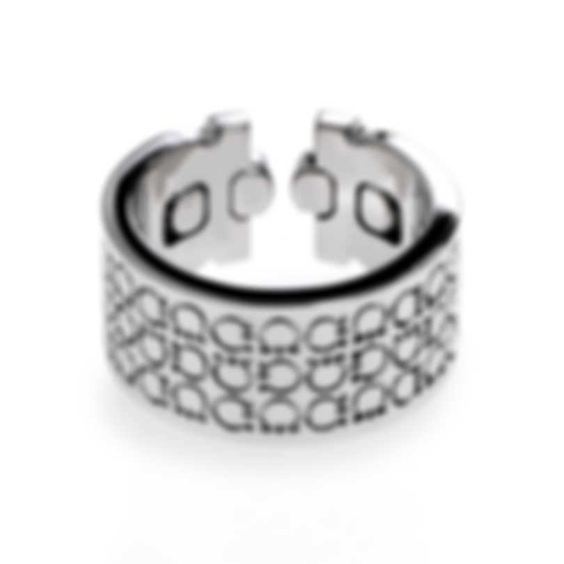 Ferragamo Gancini Sterling Silver Ring Sz 6.5 703387