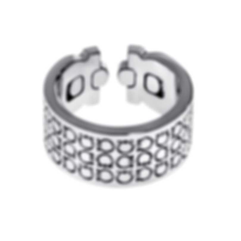 Ferragamo Gancini Sterling Silver Ring Sz 7.25 703388
