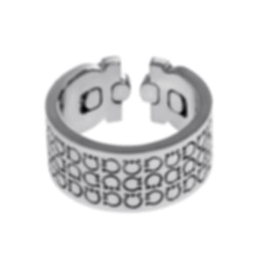Ferragamo Gancini Sterling Silver Ring Sz 8.25 703389