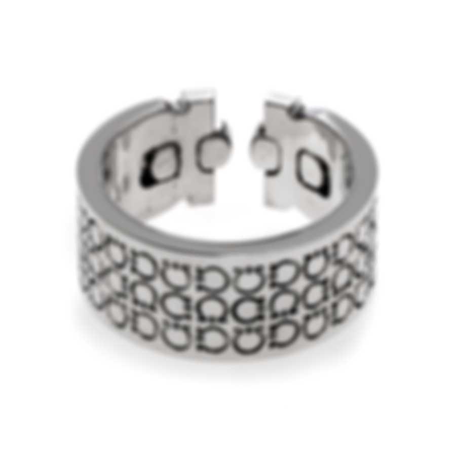 Ferragamo Gancini Sterling Silver Ring Sz 8.75 703390