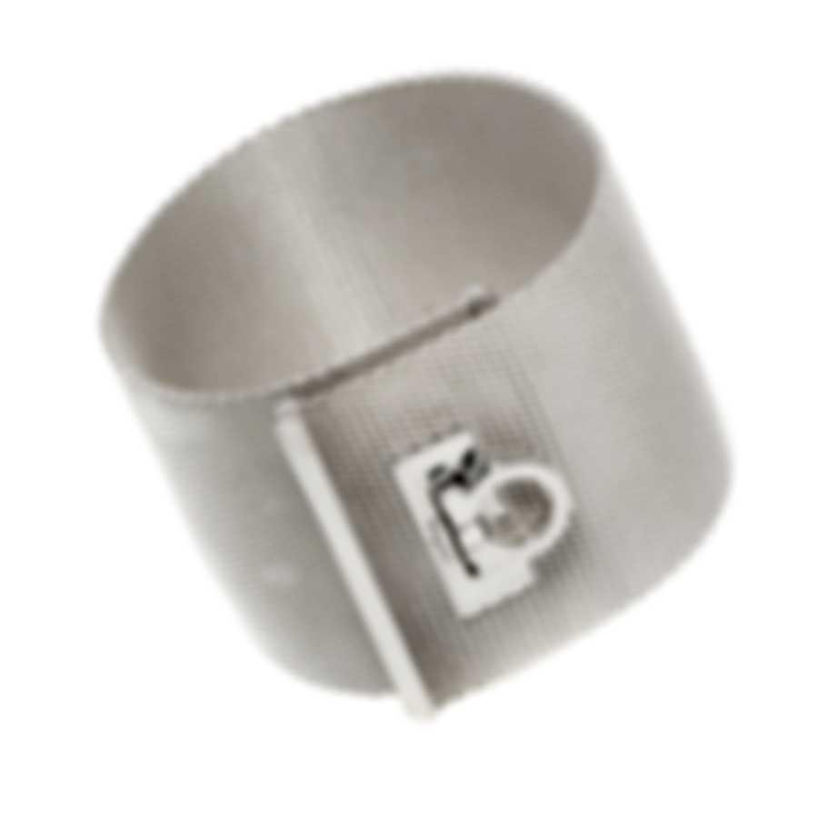 Ferragamo Gancini Sterling Silver Bracelet 704726