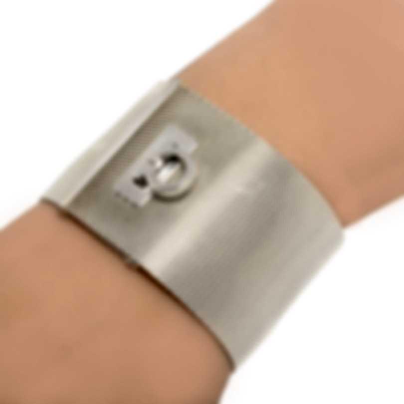 Ferragamo Gancino Sterling Silver Bracelet 704727