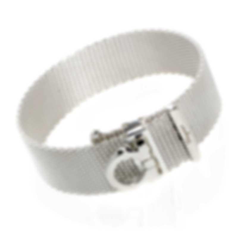 Ferragamo Gancino Sterling Silver Bracelet 704729
