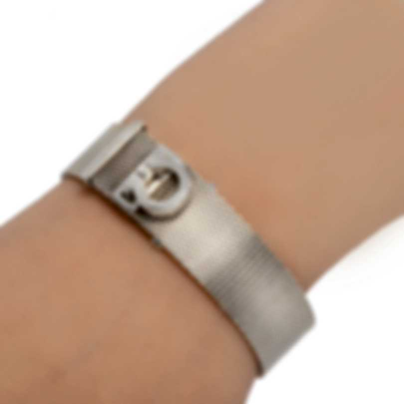 Ferragamo Gancino Sterling Silver Bracelet 704730