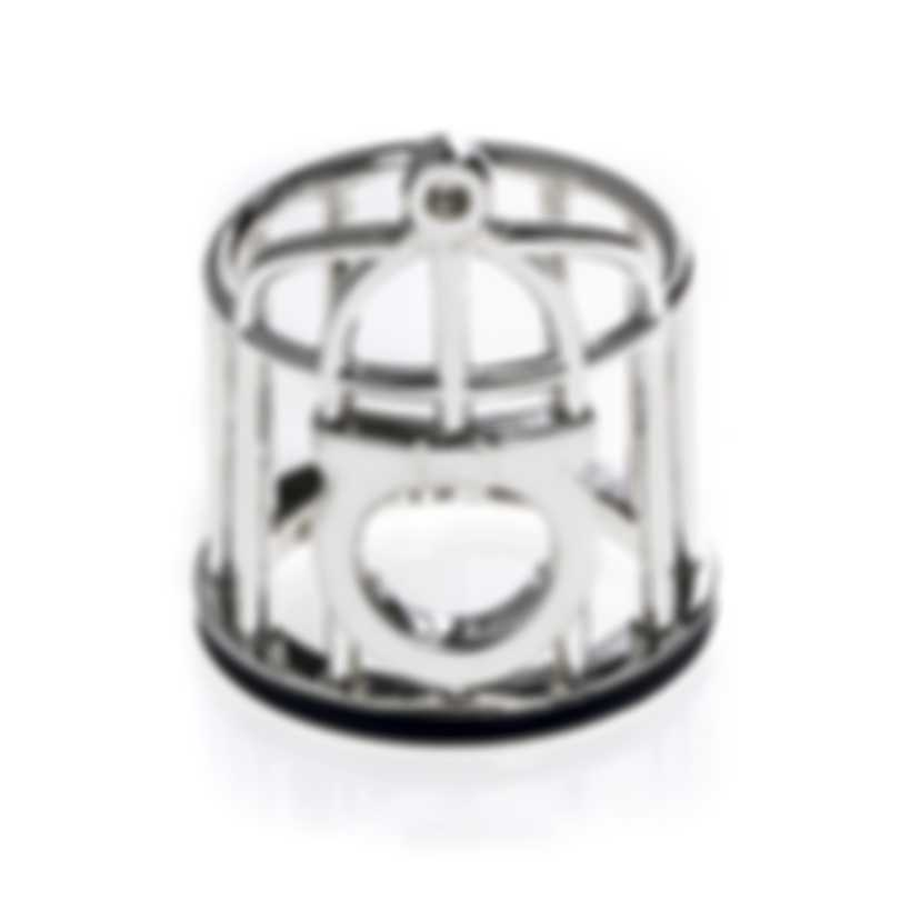 Ferragamo Capsule Libert Sterling Silver And Enamel Ring Sz 7 704789