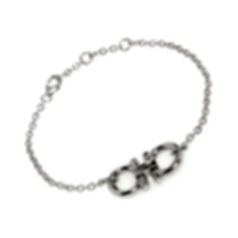Ferragamo Gancino Sterling Silver Bracelet 704153