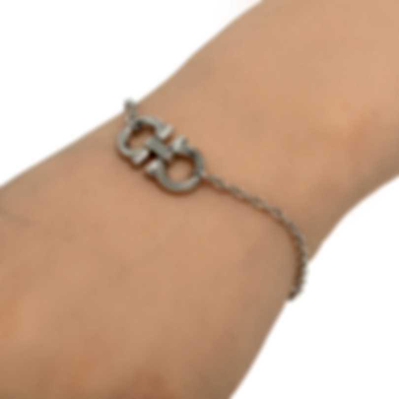 Ferragamo Gancino Sterling Silver Bracelet 704154