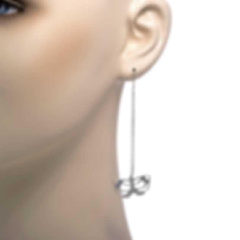 Ferragamo Farfalla Sterling Silver Earrings 704157