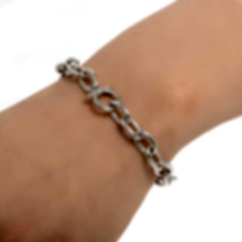Ferragamo Charms Sterling Silver Bracelet 704193