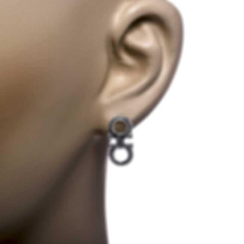 Ferragamo Gancini Sterling Silver Earrings 704208